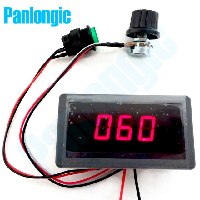 DC 6 12 24V 8A PWM Motor Speed Controller with with LED Digital Display Switch