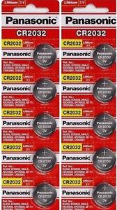 10-x-SUPER-FRESH-Panasonic-ECR2032-CR2032-Lithium-Battery-3V-Coin-Cell-Exp-2027