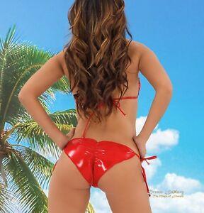 Dream-Luxury Mini Brasil Push-Up Triangel Bikini ★ SCHWARZ ★ String Tanga Thong