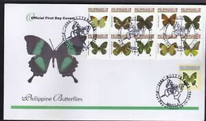 Philippines 2006 Philippine Butterflies 7 pesos in Block/10 + 1p First Day Cover