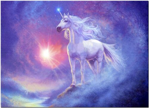 "Beautiful Unicorn Horse Canvas Print Poster 16X12/"""