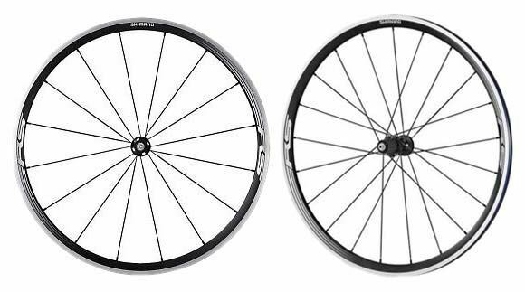 Shimano 700c Road Bike RS33 Front Rear Clincher Bicycle Wheels