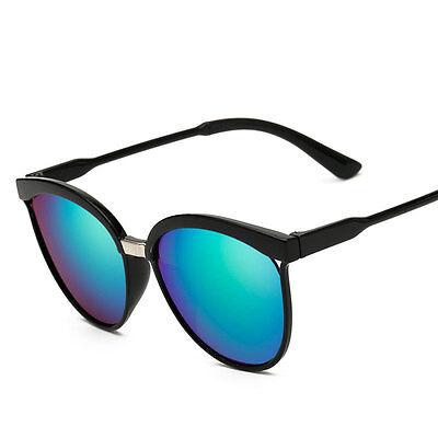 Womens Vintage Retro Designer  Mirrored Sunglasses Flat Lens Eye Glasses Eyewear