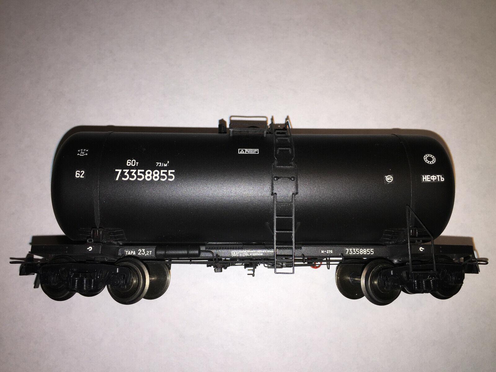 Szd RZD URSS eje de cuatro  73358855 negro coche del tanque de petróleo crudo Onega En Escala Ho