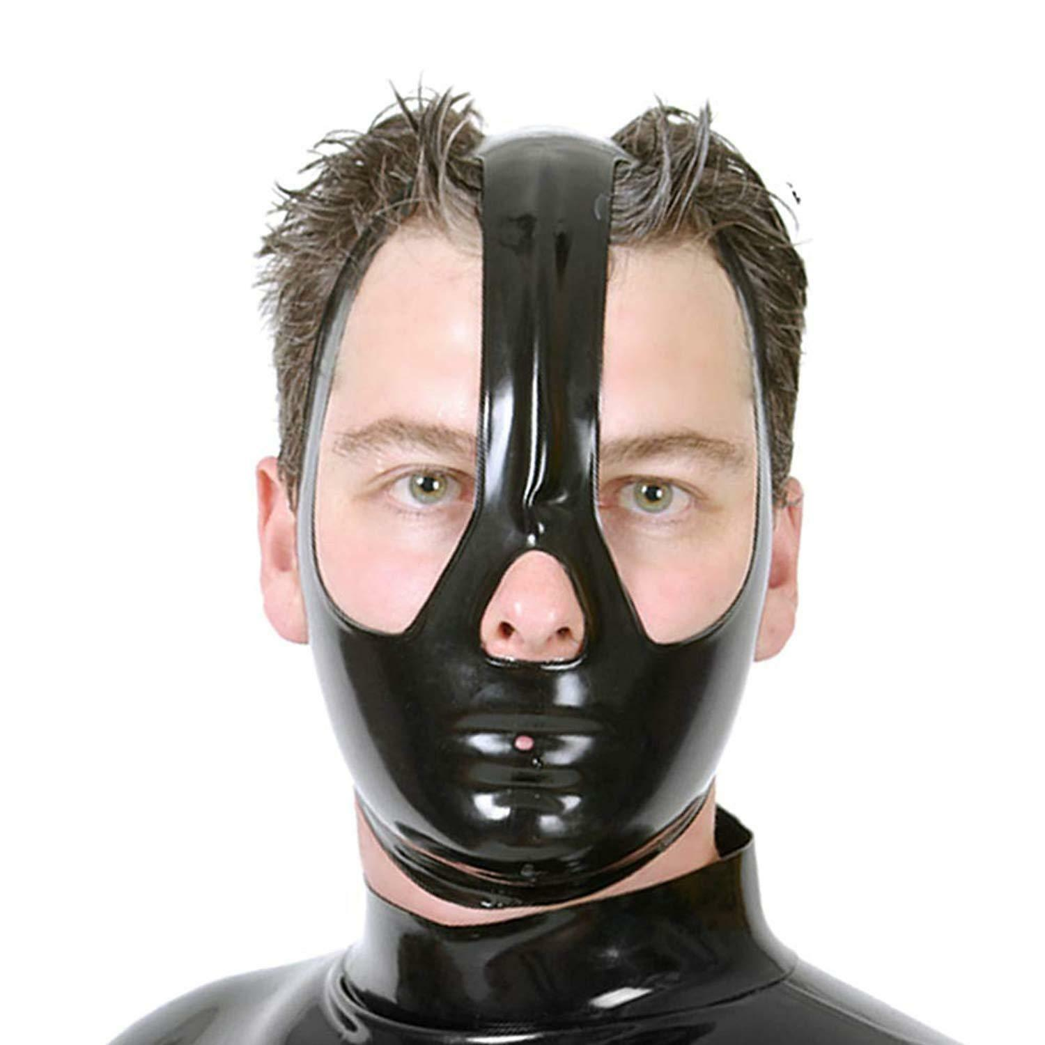 Latex Mask Attached Inflatable Gags Black Mask Inflatable Mask Halloween Mask