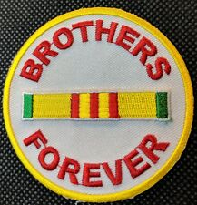 Brothers Forever Military Vet Vietnam Biker Round POW MC Club NEW Patch PAT-0358