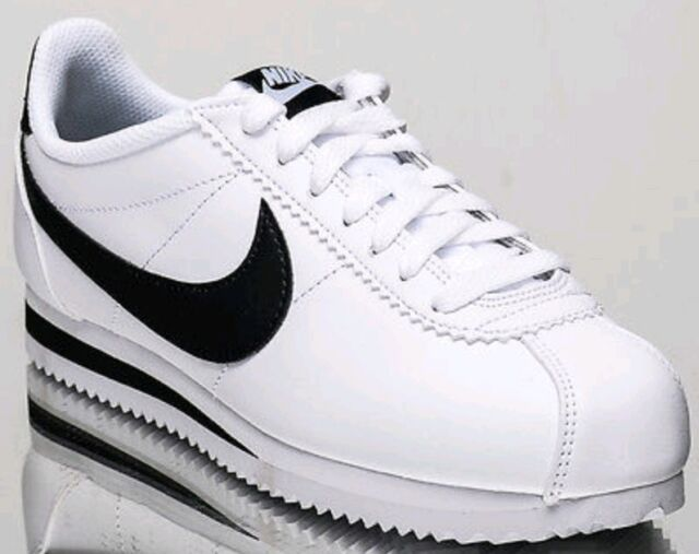 best sneakers 18912 d9e88 Women's Nike Classic Cortez Leather Size 11 White Black Running Shoes
