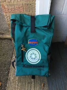 Kawasaki-Bag-Backpack-Engine-Limited-Edition-Rare-Green-Anniversary-60-Rucksack