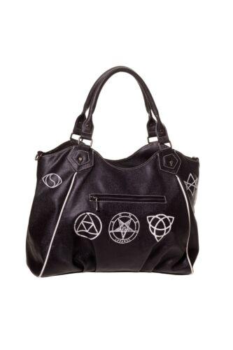Noir Punk Pentagramme Art Bbn793blk À Crâne Gothique Queen Lost Sac Main qUw4Fwa