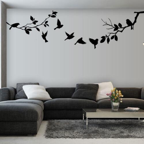 Tapisserie Gross Sticker mur Feuille Branche Nature Oiseau Arbre Feuille 14 nspnb 164ts