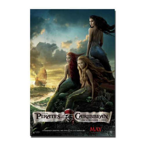 Pirates of the Caribbean On Stranger Tides Mermaid Silk Canvas Poster 24x36 inch