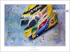 EDIZIONE LIMITATA (250) Lewis Hamilton CASCO STAMPA: firmata dall'artista