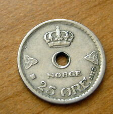 1929 Norway 25 Ore Coin