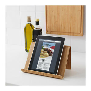 ikea rimforsa bamboo tablet ipad cookbook cook book stand or wall hang holder ebay. Black Bedroom Furniture Sets. Home Design Ideas