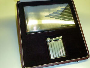 FLAMIDOR-PRESIDENT-ART-DECO-LIGHTER-CIGARETTE-CASE-OVP-1930-FRANCE