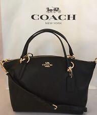 Coach F28993 Kelsey Leather Shoulder Handbag - Black