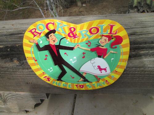 ROCK N ROLL is here to stay Vintage Look Sign Metal Embossed,Raised Letters Cool