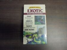 """NEW SEALED VHS MOVIES """"World's Most EXOTIC Travel Destinations""""   (G)"""