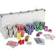Valise De Poker Jeu Set Laser Pokerchips 500 Copeaux D'aluminium Jetons