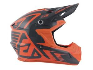 Casque-Motocross-ANSWER-AR1-EDGE-Orange-Charcoal-gris