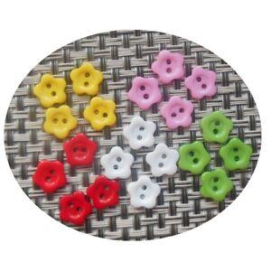 Ravissement 20 Boutons Fleur 12mm - Multicolore