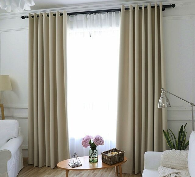 Window Curtains Insulated Thermal Blackout Solid