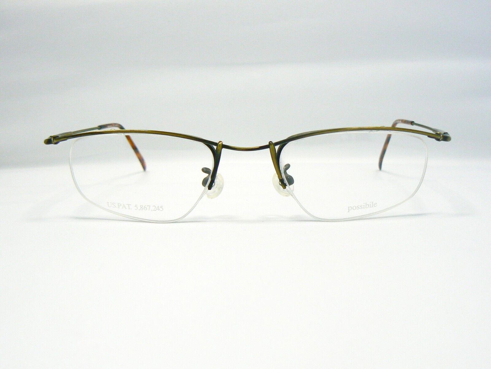 Original Possibile Brille Brillenfassung Terzo TN-006 Farbe GA gold ...