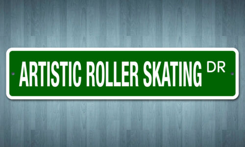 "5152 SS Artistic Roller Skating 4/"" x 18/"" Novelty Street Sign Aluminum"