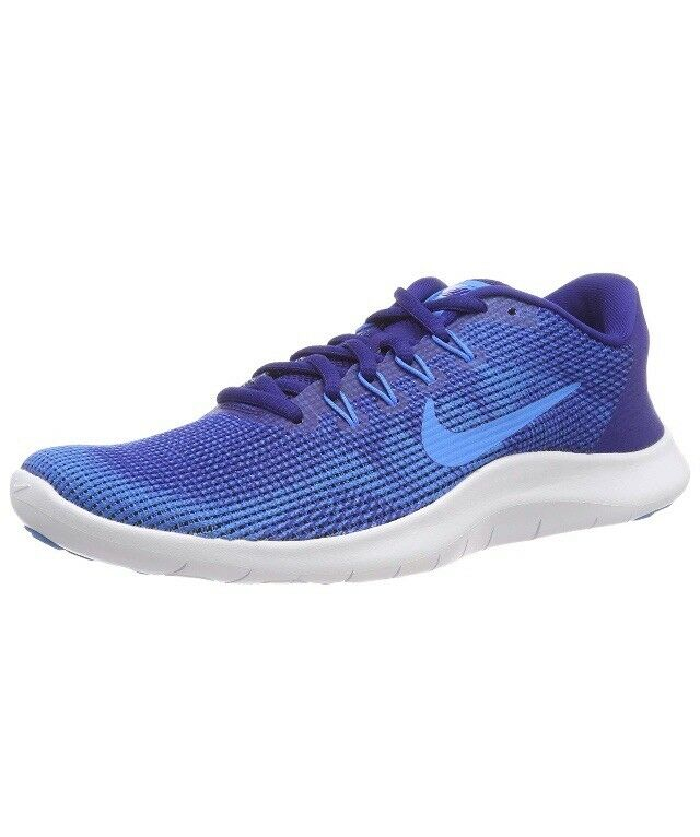 Men Nike Flex 2018 RN Running shoes Deep Royal bluee bluee Hero AA7397-401