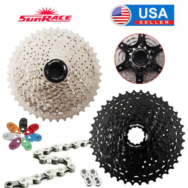 SUNRACE 11-40//42//46T MTB Bike Cassette 8-11s KMC Sprocket Chain Cassettes Hook