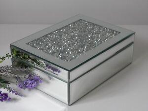 Mirror-Silver-Glass-Crystal-Jewel-Diamond-Gem-Jewellery-Trinket-Box-Gift