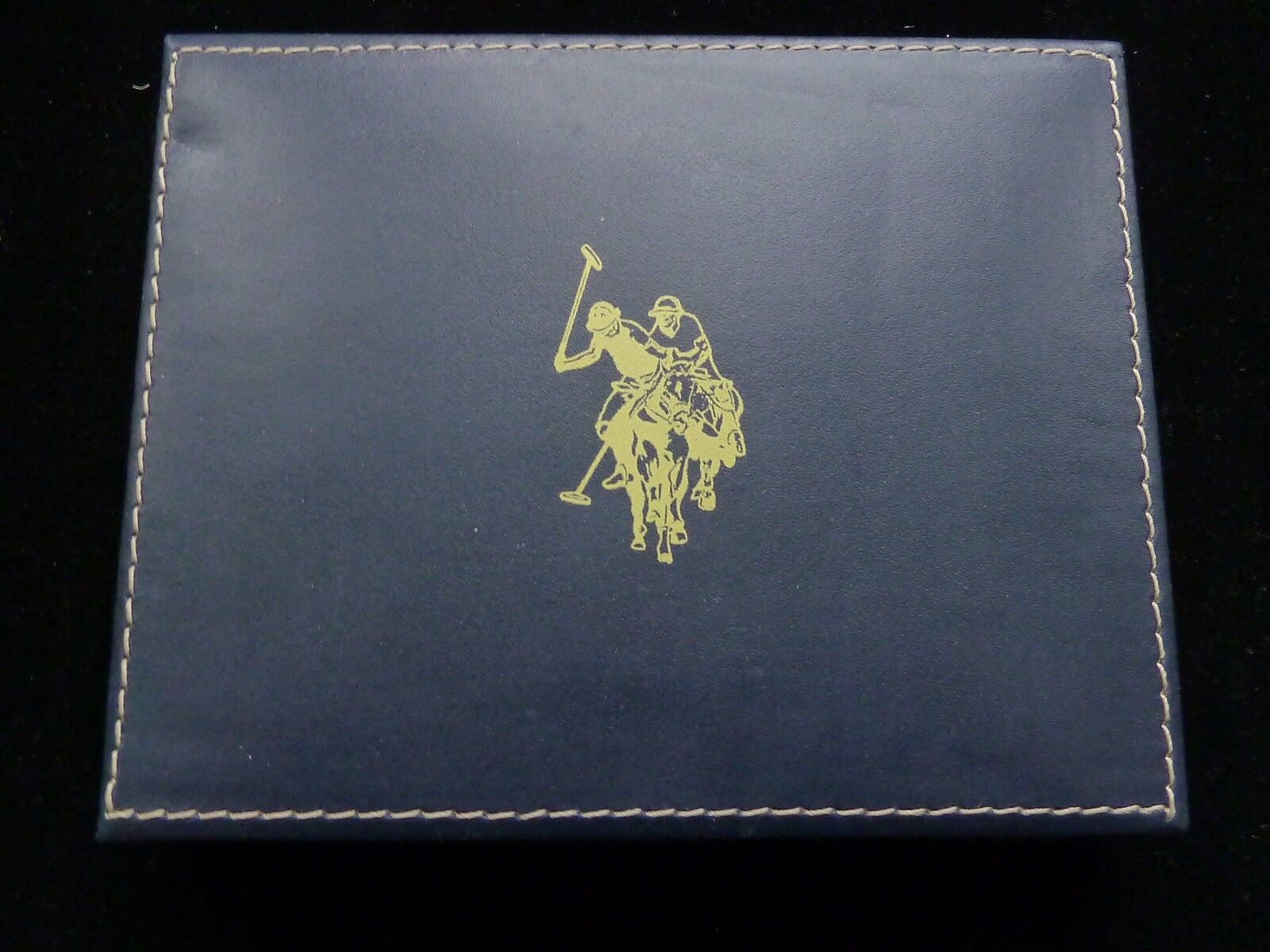 NIB US POLO ASSN Brown Passcase Billfold Wallet in Leather Valet