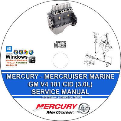 MERCRUISER GM V6 1983-1993 WORKSHOP SERVICE MANUAL ON CD