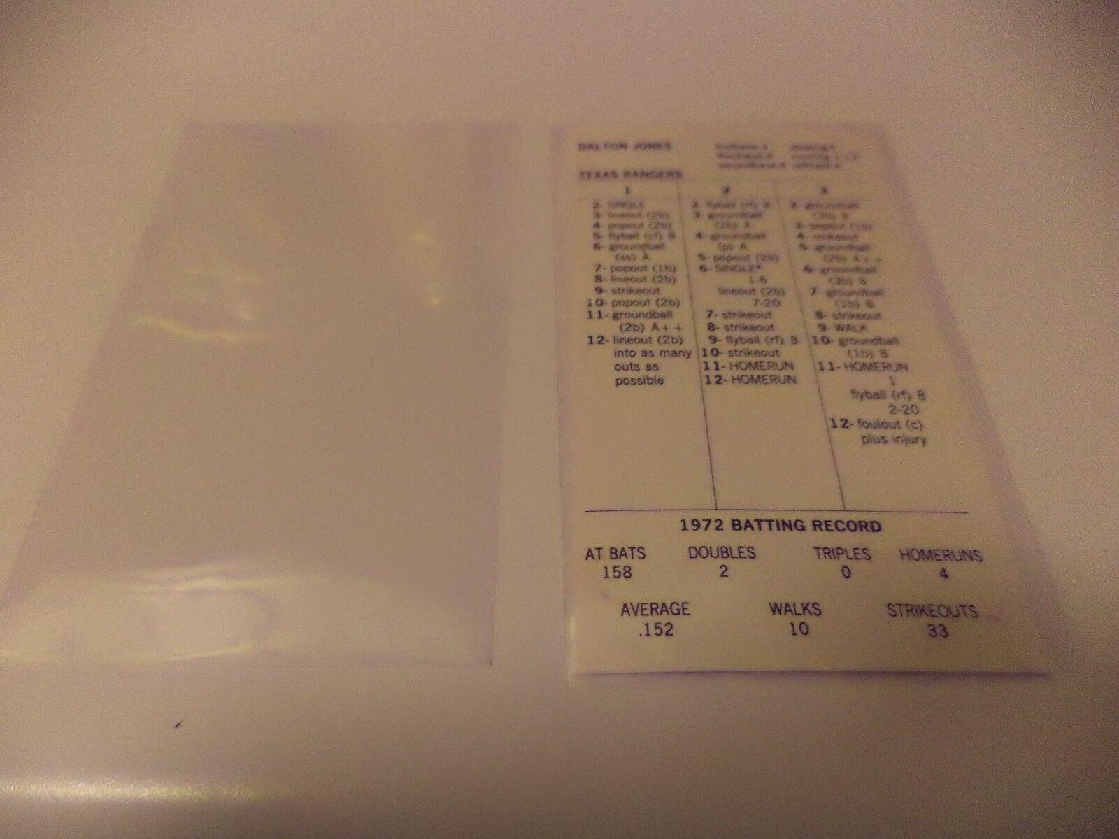 10 paquetes de 100 Strat-o-matic de béisbol Mangas individual