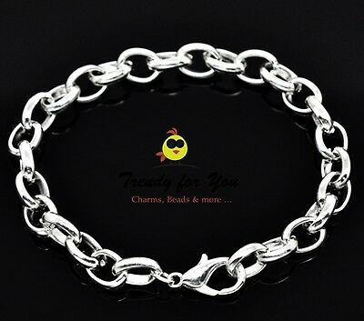 Charms Bettelarmband hell Silber Größen Auswahl von 18 cm - 21 cm