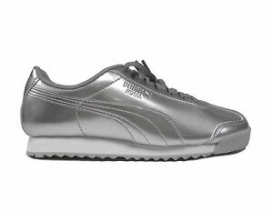 Image is loading Puma-Kids-039-ROMA-PATENT-ANODIZED-JUNIOR-Shoes-