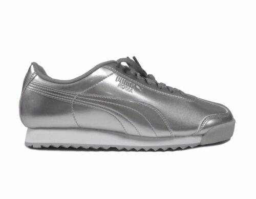 Puma Kids/' ROMA PATENT ANODIZED JUNIOR Shoes Puma Silver 361526-02 a