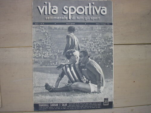 AS ROMA FOOTBALL SALAR CANDIANI INTER VITA SPORTY WEEKLY #21 1946