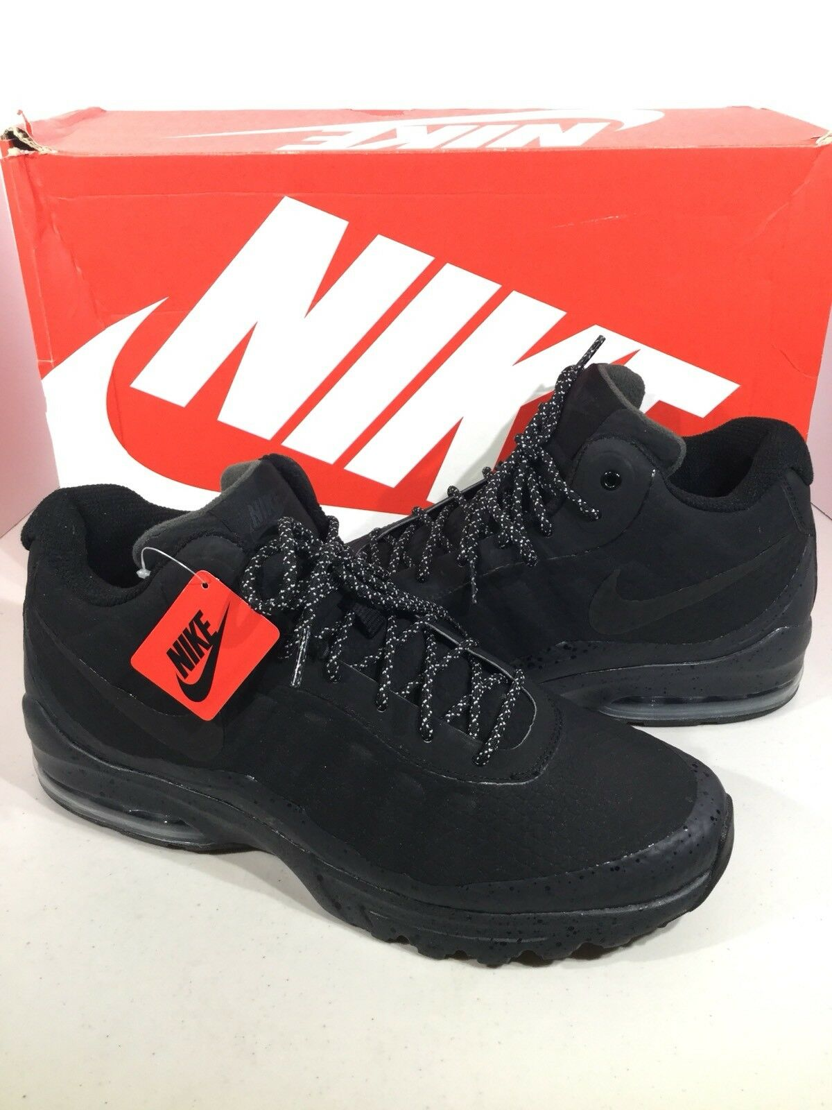 Nike Air Max Invigor Mid Men's Size 12 Black Athletic Running Shoes F1-187