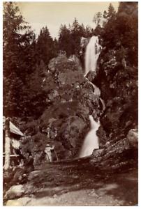 France-Environs-de-Grenoble-Cascade-de-l-039-Oursiere-Vintage-albumen-print