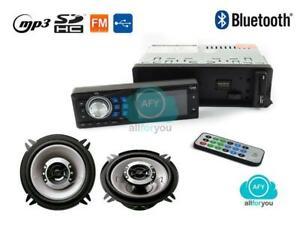 AUTORADIO-STEREO-BLUETOOTH-MP3-USB-SD-AUX-COPPIA-CASSE-AUTO-250W-10CM-KIT-AUTO