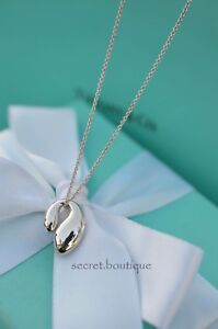 AUTHENTIC-Tiffany-amp-Co-Sterling-Double-Teardrop-Pendant-Necklace-16-034-1079