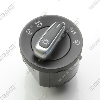 HEADLIGHT SWITCH WITH CHROME DETAIL FOR VW EOS GOLF VI JETTA