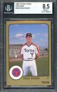 Craig Biggio Rookie Card 1988 Tucson Toros Procards #166 Houston Astros BGS 8.5