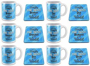 You Are Simply The Best In The World Novelty Gift Mug w/ Coaster -Blue Relations