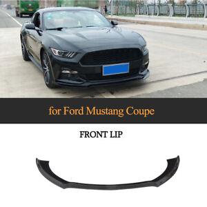 Glanz Schwarz Front Ansatz Spoilerlippe Spoilerschwert für Ford Mustang 2015-17
