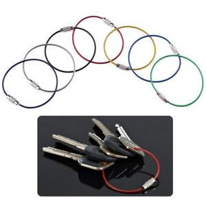 7pcs-Stainless-Steel-Keychain-Key-Ring-Cable-Outdoor-Sports-Climbing-Wire-Ropes