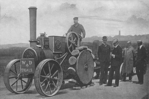 Pedrail Tractor Engaged in War Office Trials 1911 England 7x5 Inch Print