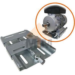 Quick mount electric motor mount base plate slide rails for Adjustable motor base mount