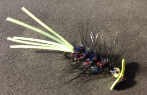 Hot Item!**** Sold per 4 Woolly Bugger Spinner w//Rubber-tail